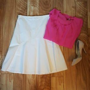 Sz 0 white Gap stretch aline skirt